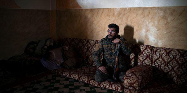 """Dia Hassakeh som har tagit sitt """"krigsnamn"""" från hemstaden Hassakeh. Felipe Dana / TT NYHETSBYRÅN"""