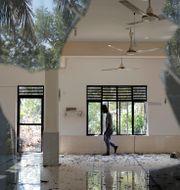En moské som har skadats i en av flera attacker mot moskéer, bostäder och affärslokaler i Sri Lanka. DINUKA LIYANAWATTE / TT NYHETSBYRÅN