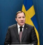 Inrikesminister Mikael Damberg, statsminister Stefan Löfven och socialminister Lena Hallengren. TT