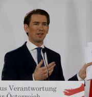 Österrikes förbundskansler Sebastian Kurz.  Ronald Zak / TT NYHETSBYRÅN
