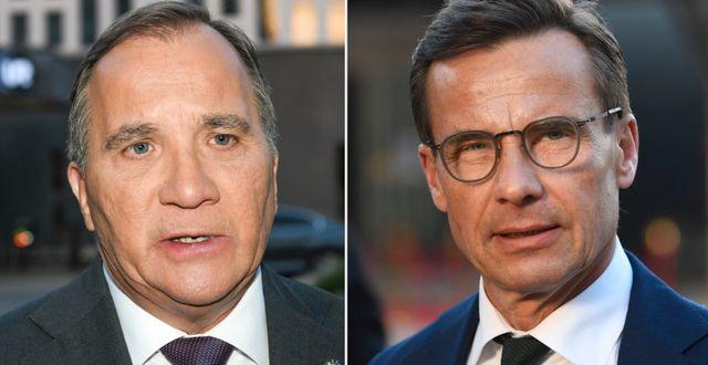 Stefan Löfven (S) och Ulf Kristersson (M). TT