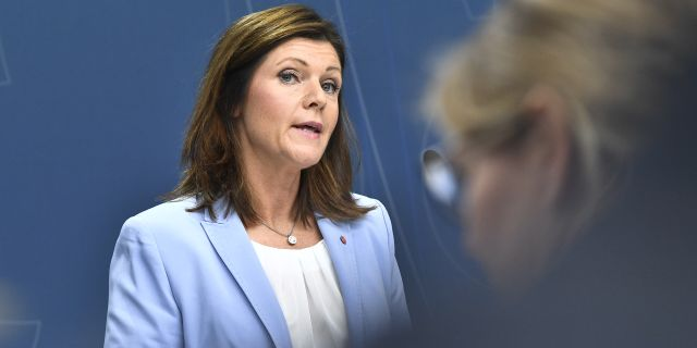 Arbetsmarknadsminister Eva Nordmark (S). Claudio Bresciani/TT / TT NYHETSBYRÅN
