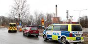 Räddningstjänst på plats vid ett gasutsläpp vid Olshammars bruk/Aspa bruk.. Jeppe Gustafsson/TT / TT NYHETSBYRÅN