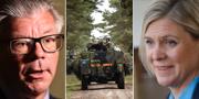 Hans Wallmark (M) och Magdalena Andersson (S). TT