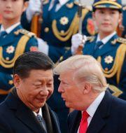 Presidenterna Xi Jinping och Donald Trump. Andy Wong / TT / NTB Scanpix