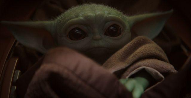 """""""Baby Yoda"""" från serien """"Mandalorian"""" TT NYHETSBYRÅN"""