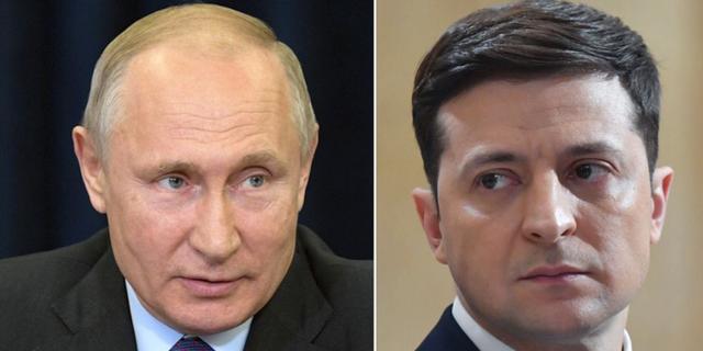 Vladimir Putin och Volodymyr Zelenskyj.