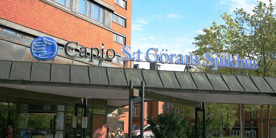 S:t Görans sjukhus. Pressbild