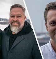 De ekonomiska rådgivarna Charlie Söderberg och Mathias Andersson ställer Klarnas Sverigechef Joakim Lundberg mot väggen.