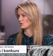 Maria Landeborn i SVT:s Morgonstudion.