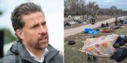 Mikael Ribbenvik/Migranter i närheten av gränsen mellan Turkiet och Grekland TT/AFP