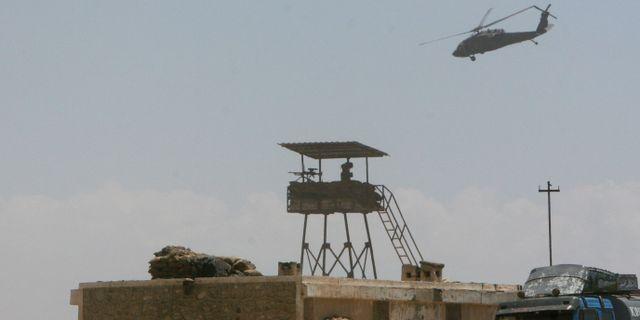 Arkivbild: Amerikansk-afghansk militärpost. Musadeq Sadeq / TT NYHETSBYRÅN/ NTB Scanpix