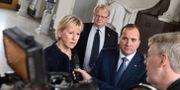 Margot Wallström, Stefan Löfven och Peter Hultqvist, arkivbild. CLAUDIO BRESCIANI / TT / TT NYHETSBYRÅN