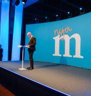 Reinfeldt (M) avgick på valnatten 2014.  JESSICA GOW / TT / TT NYHETSBYRÅN