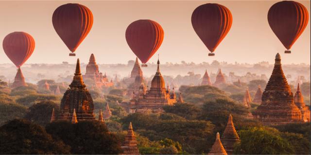 Den antika staden Bagan i Burma har drygt 2 000 buddhistiska tempel att strosa runt bland och finns nu på Unescos världsarvslista. Istock