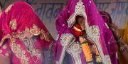 Illustrationsbild, flickor som gifts bort i Indien. Prakash Hatvalne / TT NYHETSBYRÅN