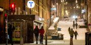 Snö i Stockholm Christine Olsson/TT / TT NYHETSBYRÅN