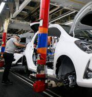 En Toyota-fabrik i staden Onnaing i norra Frankrike. Michel Spingler / TT NYHETSBYRÅN