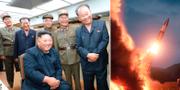 Bilder släppta av den nordkoreanska regeringen sägs visa helgens uppskjutning. TT