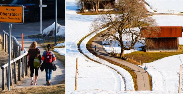 Oberstdorf på måndagen. TT