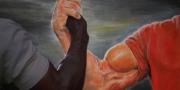 """""""Epic handshake"""" av Miloslav Randa"""