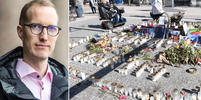 Jan Jönsson (L)/Minnesstund efter morden i Sätra. TT