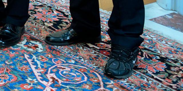 Stoppades for att han saknade skor