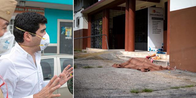 Otto Sonnenholzner/Kropp på gatan i Guayaquil. TT