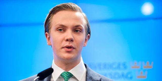 Tobias Andersson (SD), handelspolitisk talesperson. Jessica Gow/TT / TT NYHETSBYRÅN