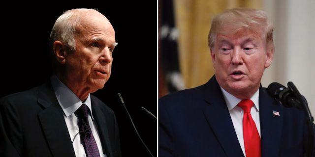 John McCain och Donald Trump. TT