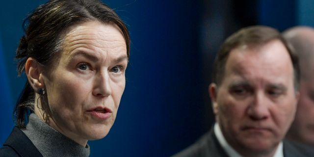 Socialstyrelsens generaldirektör Olivia Wigzell.  Janerik Henriksson/TT / TT NYHETSBYRÅN