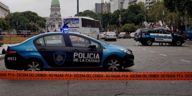 Utredningen efter skjutningen i Buenos Aires. Natacha Pisarenko / TT NYHETSBYRÅN/ NTB Scanpix