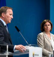 Arkivbild: Statsminister Stefan Löfven (S) och vice statsminister Isabella Lövin (MP) ALI LORESTANI/TT / TT NYHETSBYRÅN