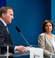 Stefan Löfven (S) och Isabella Lövin (MP). ALI LORESTANI/TT / TT NYHETSBYRÅN