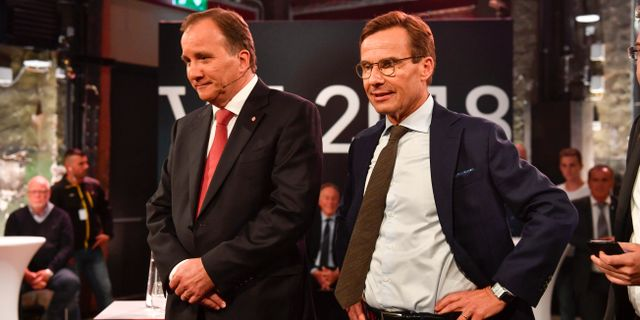 Löfven och Kristersson. Arkivbild. Henrik Montgomery/TT / TT NYHETSBYRÅN