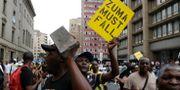 ANC-anhängare som demonstrerar mot president Jacob Zuma. Themba Hadebe / TT / NTB Scanpix