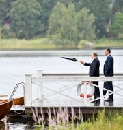 Stefan Löfven och Spaniens premiärminister Pedro Sánchez på Harpsund på onsdagen ERIK SIMANDER / TT NYHETSBYRÅN