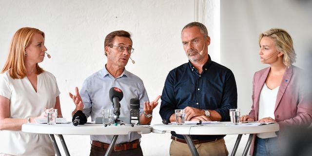 Alliansledarna.  Johan Nilsson/TT / TT NYHETSBYRÅN