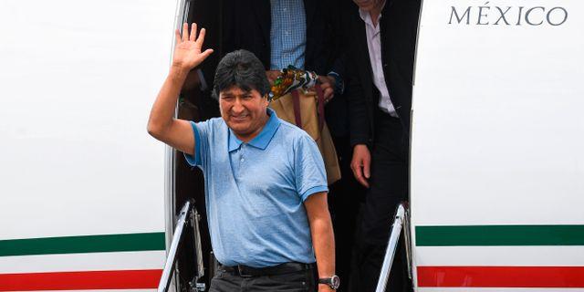 Evo Morales har landat i Mexiko. PEDRO PARDO / AFP