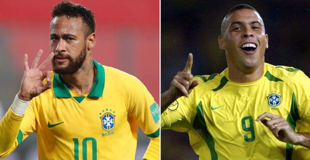 Neymar och Ronaldo.  TT