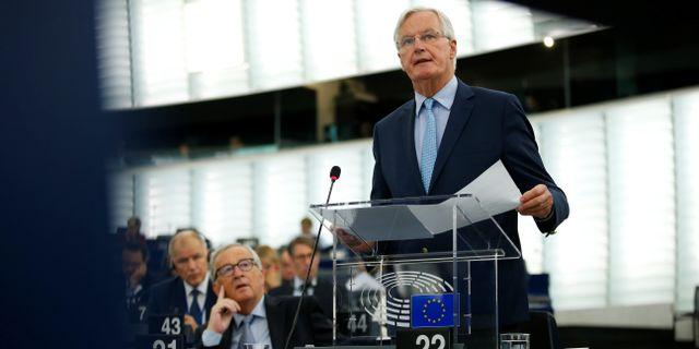 Michel Barnier är EU:s chefsförhandlare i brexitfrågan.  VINCENT KESSLER / TT NYHETSBYRÅN