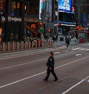 Gata i New York.  John Minchillo / TT NYHETSBYRÅN