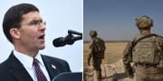 USA:s försvarsminister Mark Esper / amerikanska trupper på gränsens mellan Syrien och Turkiet. TT