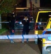 Polisen på plats. Johan Nilsson/TT / TT NYHETSBYRÅN