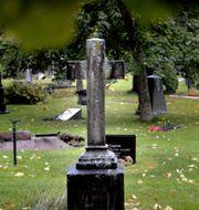 Kyrkogården i Solna där tortyren ägde rum/Illustrationsbild TT