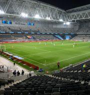 En tom Tele2 Arena. Henrik Montgomery/TT / TT NYHETSBYRÅN
