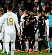 Bild från matchen.  Manu Fernandez / TT NYHETSBYRÅN