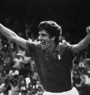 Paolo Rossi sänker Polen i VM-semifinalen 1982. TT NYHETSBYRÅN