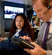 Börsmäklare på Wall Street. Arkivbild. Henny Ray Abrams / TT NYHETSBYRÅN