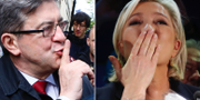 Jean-Luc Mélenchon och Marine Le Pen. TT